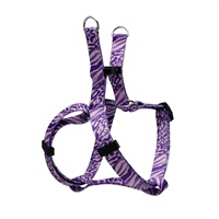Dogit Style Adjustable Step In Dog Harness, Jungle Fever, Purple, XX-Small