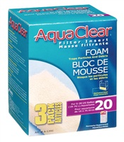 AquaClear 20 Foam Filter insert, 3 pack
