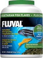 Fluval Vegetarian Fish Flakes, 35 g (1.23 oz)