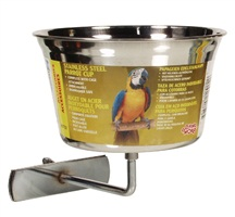 Living World Stainless Steel Parrot Cup Large - 960 ml (32 oz)