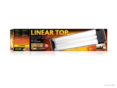 """Exo Terra Linear Top - Large - 36""""- 90 cm - holds 2 x 25 W (30""""/75 cm) Linear Tubes"""