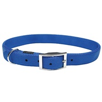 """Dogit Single Ply Nylon Dog Collar with Buckle- Blue, Small (25cm/10"""")"""