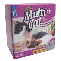 Catit Multi-Cat Premium Clumping Cat Litter, Lavender Scent, Box (15 kg / 33 lbs)