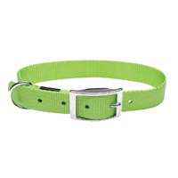 "Dogit Double Ply Nylon Dog Collar with Buckle- Green, XLarge (56cm/22"")"