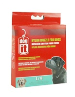 "Dogit Nylon Dog Muzzle-Black-Large (18.5cm / 7.3"")"