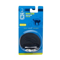 Catit Nylon Cat Leash, Black (1.2m/4ft)