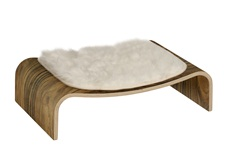 Vesper V-Lounge - Walnut - 64 x 50 x 16.5 cm