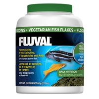 Fluval Vegetarian Fish Flakes, 60 g (2.12 oz)
