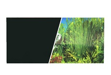 "Marina Double Sided Aquarium Background, Plant Aquarium/Solid Black, 45.7 cm X 7.6 m (18"" X25 ft)"