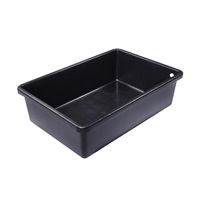 "Laguna Rectangular Heavy Duty Black Plastic Basin, 105 cm x 72 cm x 30 cm (42"" x 28.5"" x 12""). Holds 227 litres (60 U.S. gallons) of water."