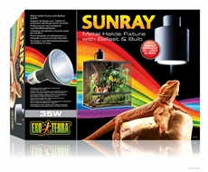 SunRay Metal Halide Fixture With Ballast & Bulb - 35W