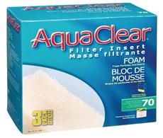 AquaClear 70 Foam Filter insert, 3 pack