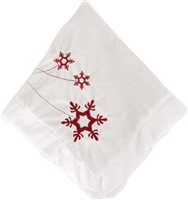 Dogit Christmas 2010 Small Dog Clothing Collection - Holiday Blanket, Red/White with Snowflake pattern