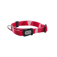 Dogit Style Adjustable Nylon Print Dog Collar-Wild Stripes, Red, Large