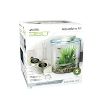 Marina 360° Aquarium, 2.65 gallon