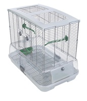 Vision Bird Cage for small birds (M01) - Small Wire, single height - 61 x 38 x 52 cm (24 L x 15 W x 20.5 in H)