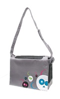 Dogit Style Nylon Messenger Dog Carry Bag, Da Face, Gray (for small dogs up to 9kg/20lbs)