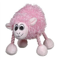 "Dogit ""Puppy Luvz"" Plush Dog Toy with Squeaker, Pink Sheep"