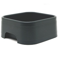 Dogit Style Square Silicone Dog Bowl, Gray, 350mL (11.8 oz)