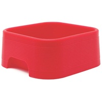 Dogit Style Square Silicone Dog Bowl, Red, 350mL (11.8 oz)
