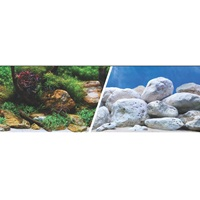 "Marina Double Sided Aquarium Background, Aqua Garden/Bright Stone, 30.5 cm X 7.6 m (12"" X 25 ft)"