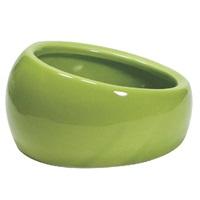 Living World Ergonomic Dish  Small, 120 mL (4.22 oz) Green/Ceramic