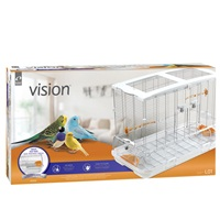 Vision Bird Cage for large birds (L01)- Single height, Small wire- Size: 75 x 38 x 54.5 cm (29.5 L x 15 W x 21.5 in H)