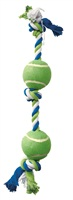 Dogit Dog Knotted Rope Toy, Multicoloured 2-Ball Tug