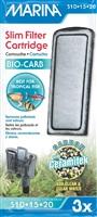 Marina Bio Carb Cartridge for Slim Filters, 3 pack