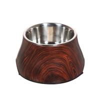 Dogit Design Dog Dish with Wood Finish Pattern, 12.9 fl oz