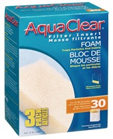 AquaClear 30 Foam Filter insert, 3 pack