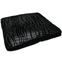 "Dogit Style Square Mattress Dog Bed-Savage, Black,Small. 64cm x 64cm x 12.7cm (25"" x 25"" x 5"")."