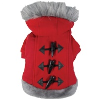 Dogit Style Fall/Winter 2011 Small Dog Clothing Collection - Hoodie Sweater, Red, Large
