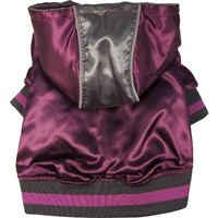 Dogit Style Fall/Winter 2011 Small Dog Clothing Collection -  Metallic Hoodie, Purple, Large
