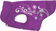 Dogit Style Winter 2010 Dog Clothing & Toy Collection - Winter Vest with Urban Print, Purple, Small
