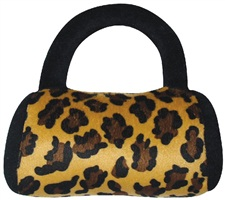 "Dogit Luvz Plush Dog Toy, Leopard Print Purse (18cm/7"")"