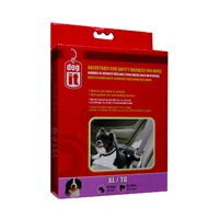 Dogit Adjustable Nylon Dog Car Safety Harness, Black-XLarge