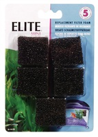 Elite Mini Underwater Filter Replacement Foam,5 pack
