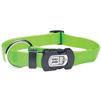 Dogit Single Ply Adjustable Nylon Dog Collar with Snap- Green, Large