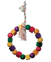 Living World Junglewood Bird Toy, Large Bead and Block Ring