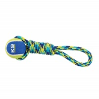 K9 Fitness by Zeus Tennis Ball Rope Tug - 23 cm (9 in)