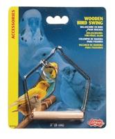 "Living World Wooden Bird Swing Small - 7.5 x 10 cm (3"" x 4"")"