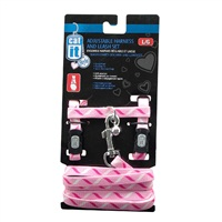 Catit Style Adjustable Cat Harness & Leash Set, Ribbon, Large.