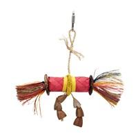 HARI Rustic Treasures Bird Toy Buri Wrap Color - Small