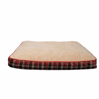 Dogit DreamWell Dog Mattress Bed - Rectangular - Red Tartan - 91 x 71 x 12.7 cm (36 x 28 x 5 in)