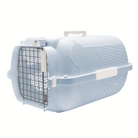 Catit Profile Voyageur Cat Carrier, Baby Blue, Small (48.3 cm L x 32.6 cm W x 28 cm H / 19in x 12.8in x 11in)