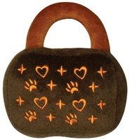 "Dogit Luvz Plush Dog Toy, Brown/Orange Purse (18cm/7"")"