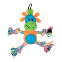 Zeus Mojo Brights Rope Pals - Alligator & Giraffe - Assorted - 14 cm (5.5 in)