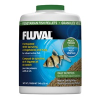 Fluval Vegetarian Medium Sinking Pellets - 340 g (12 oz)