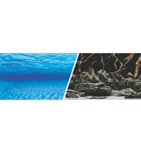 "Marina Double Sided Aquarium Background, Sea Scape/Natural Mystic, 30.5 cm X 7.6 m (12"" X 25 ft)"